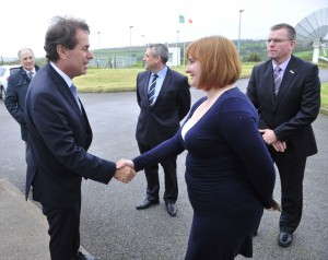 Marina Sologub, NSC greets Justice Minister Alan Shatter