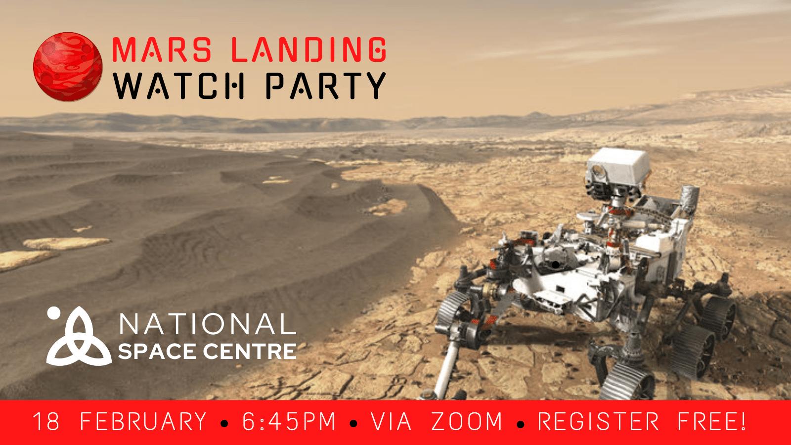 Mars Landing Watch Party
